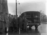 Ambulance outside Carron Ironworks