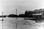 High tide at Bridgeness, 4.45pm BST - flooding of Bridgeness shipbreaking yard