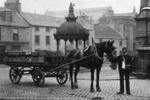 Barr's horse and cart beside Gentleman Fountain