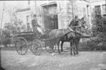 Coach and two horse outside Eriden House