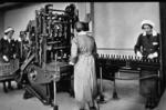 Aitken's bottling plant at Falkirk Brewery- labelling machines
