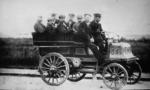 Car with eight male passengers