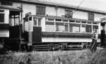 Tram in siding