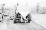 Snowplough from the back