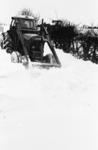 Snowplough clearing snow