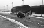 Snowplough at a sports ground