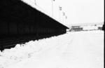 Snow covered football ground