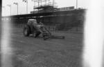 Snowplough at football ground