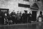 Group of men outside Robertson's shop (Old Smiddy, Airth)