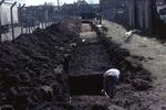 Excavation before laying sewer near Camelon Roman fort