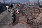 Excavation, Camelon Roman fort