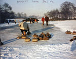 Curling at Larbert House Pond.