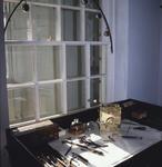 Callendar House - clockmaker's shop in exhibition Forbes's Falkirk