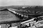 View of dockside at Bo'ness harbour, Bo'ness.
