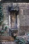 Empty medieval sculpture niche in Bruce Aisle of Airth Old Parish Church