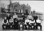 """""""Longcroft Quoiting Club.  Stirling and District Cup Holders 1904""""."""