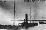 SS Carron lying sunk in Scapa Flow, Burray, Orkney