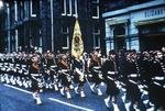 Argyll & Sutherland Highlanders Parade.  Follows Freedom of Burgh of Falkirk ceremony (?)