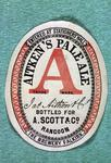 Label - 'Aitken's Pale Ale', from Aitken's Brewery, Newmarket St, Falkirk