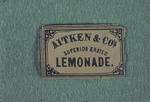 Label - 'Superior Erated Lemonade', from Aitken's Brewery, Newmarket St., Falkirk