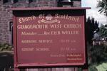West Church, Grangemouth.  Notice board