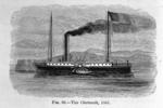 """Drawing of paddle steamer """"Clermont"""""""