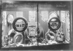 Window display for Dunlop tyres