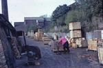 Loaded bricks and kiln at Craigend Refractories Ltd, Avonbridge