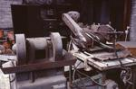 Disused machinery in workshop at Dyson Refractories Ltd, Bonnybridge