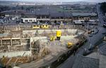 View of Callendar Shopping Centre construction site from above, Falkirk