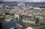 Callendar Shopping Centre construction site and Market Square, Falkirk