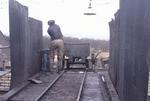 Unloading fireclay, Roughcastle Mine.