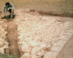 Geoff Bailey at Beancross excavation