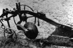 Horse-drawn wheel plough at East Kerse Mains Farm