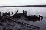 Wreck of sailing barge in River Carron, Grangemouth