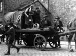 Travellers on cart, possibly in Bo'ness