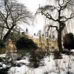 Callendar House in snow