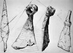 Sketches of artefacts found at Camelon Fort, Falkirk