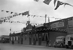 Coronation decorations, Bus Depot, Falkirk