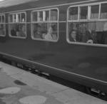 Train with passengers at Grangemouth Station