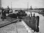 """Overhaul to dock gates""  Grangemouth"