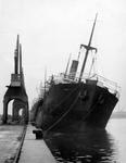 """""""SS Pacifico from Archangel with timber arrived at Grangemouth with damaged bulworks"""""""