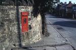Carron Co post box set in wall on Slamannan Rd, Falkirk