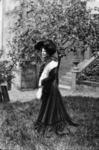 Edwardian woman in garden
