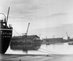 MV Totland moored at dockside.