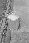 Metal rubbish bin