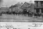 Newmarket Street, showing Crown Livery Stables and lower fire station