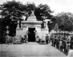 Groesbeck Mausoleum after the burial  of Capt James Fitz Morris,Cincinnati, USA