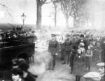 Funeral cortege of Capt James Fitz Morris at Polmont