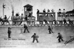 """Cartoon """"The Old Roman Railway"""""""